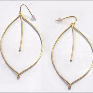 Reform Leaf Earrings (14K gold plated)